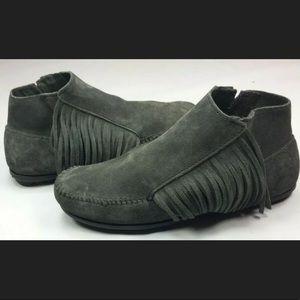 New Minnetonka Fringe moccasin boots
